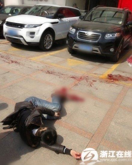 杭州大厦命案男子杀前女友后自捅三刀 现场血腥(图)1