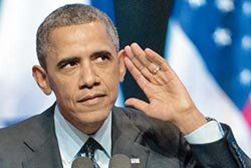奥巴马演讲时遭学生抗议 称是故意安排的图片