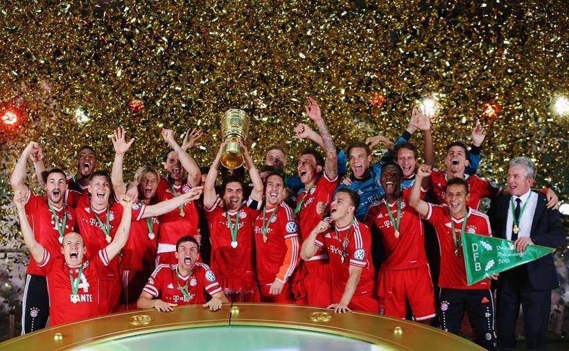 德国杯-穆勒破门戈麦斯两球 拜仁3-2首夺三冠王