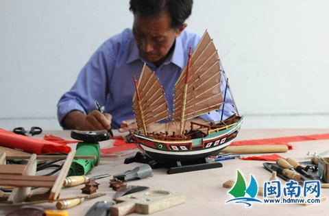 福船模型制作480