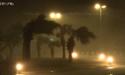 美国追风人拍摄苏力台风夜里侵袭台湾街头实况