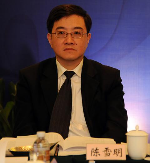 上海高院副院长民一庭庭长陈雪明简历照片(图