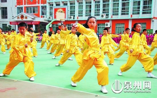 武术,闽南歌谣等传统文化教育在我市学校广泛开展