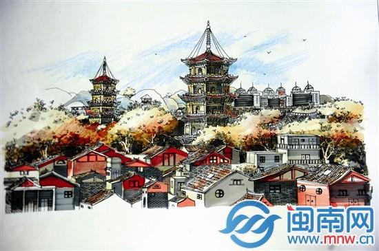 说闽韵#手绘作品展 展览一:  时间11月15-29日,  地点:安溪文庙东西庑