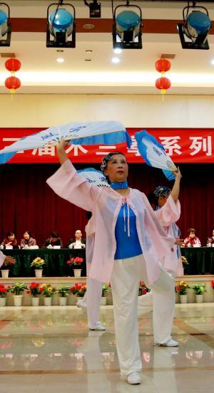 泉州市第二届木兰拳表演赛现场组图