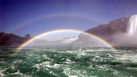 尼亚加拉大瀑布的双虹