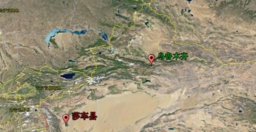新疆喀什地区莎车县地图图片