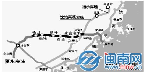 莆永高速泉州段今日通车