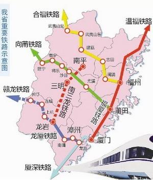 南三龙高速铁路线路站点详情(图)
