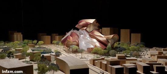 泉州当代艺术馆设计方案模型 初步选址龙头山片区(图)