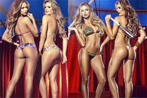 超模姐妹花卡特琳娜与凡妮莎马戏团写真丰乳细腰丁字裤美臀