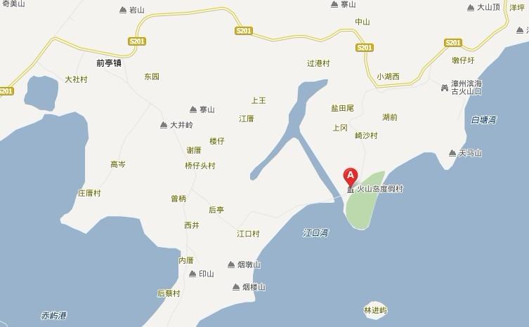 漳州火山岛位置地图