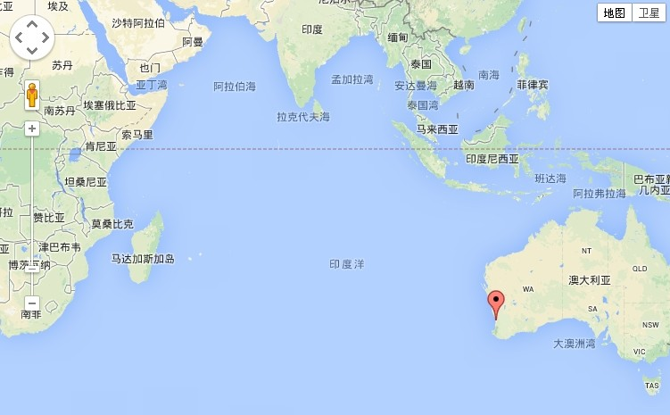澳大利亚珀斯海域地图详解 位于南印度洋偏远位置图片