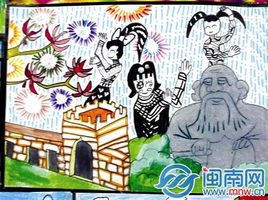 小学生自创现代�:)_泉州实小千名小学生 画出咱们\