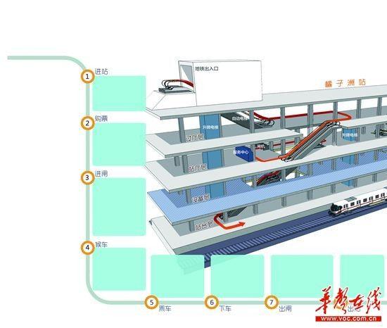 长沙地铁2号线正式通车运营 站点路线图及乘坐攻略