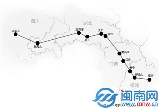 福建动车下月可直通四川重庆 开行进新疆直通列车