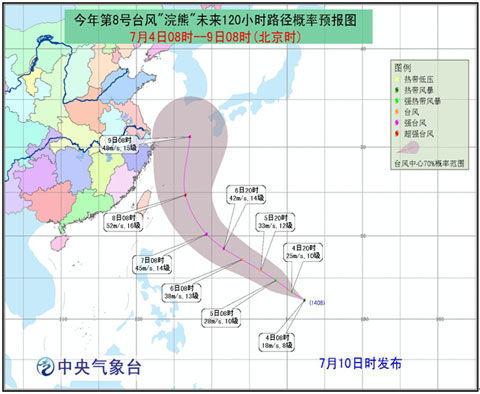 2014年第8号台风浣熊最新路径图 双台风胚胎现身 图图片