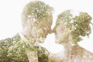 独具一格玩转婚纱照 二次曝光神秘唯美宛若梦境
