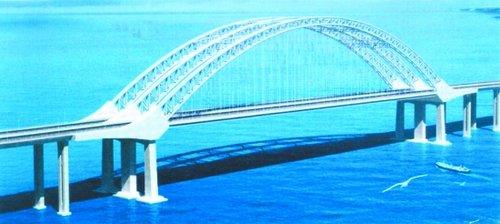泉州湾跨海大桥设计方案效果图 大桥外观图片
