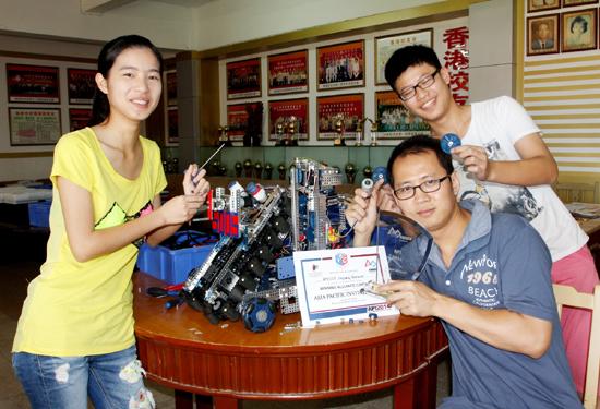 晋江学生造机器人 夺亚太机器人国际邀请赛冠军