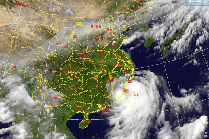 7月23日消息:台风麦德姆福建登陆前卫星云图-台风麦德姆登陆最新消图片