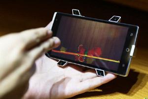亿思达takee全息手机真机图鉴 个人裸眼3D太空眼支架实现隔空操作